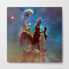 picture of star by hubble : pilliers of the creation. Metal Print