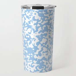 Small Spots - White and Baby Blue Travel Mug