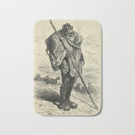 Gustave Doré - Illustration of a Castilian Shepherd, from Miranda de Ebro (1874) Bath Mat