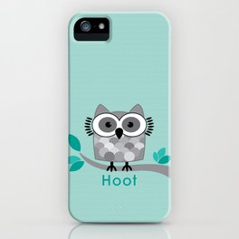 Hoot - Owl in a Tree iPhone Case