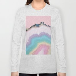 Rainbow Agate Slice Long Sleeve T-shirt