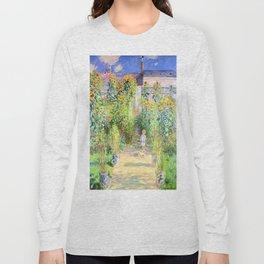 Monets Garden at Vetheuil Long Sleeve T-shirt