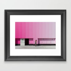 Lost in saturation Framed Art Print