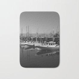 Boats At Fishermans Wharf San Francisco Bath Mat