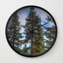 Tall Trees Wall Clock
