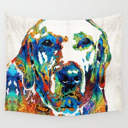 Labrador Retriever Art - Play With Me - By Sharon Cummings Wall Tapestry
