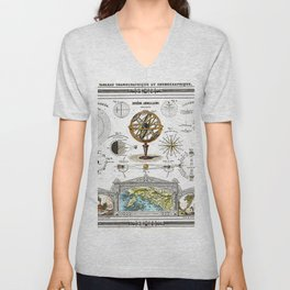 Sphere Armillaire - Astronomical and Cosmographical Chart Unisex V-Neck