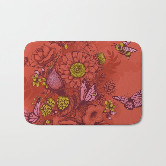 Beauty (eye of the beholder) - terracotta version Bath Mat