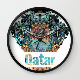 Qatar Awesome Country gift Wall Clock