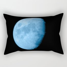 4K Dark Side of the Moon Ice Blue Rectangular Pillow