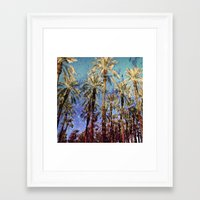palm trees Framed Art Prints featuring Palm Trees by Loveurstyle