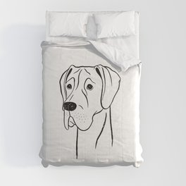 Great Dane (Black and White) Comforters