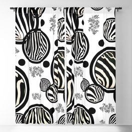 Zebra Circles Blackout Curtain