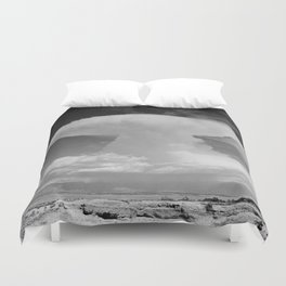 Anvil-shaped cumulonimbus cloud. Pike's Peak, Colorado Duvet Cover