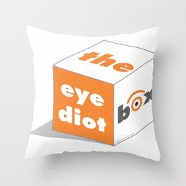 the idiot box Throw Pillow