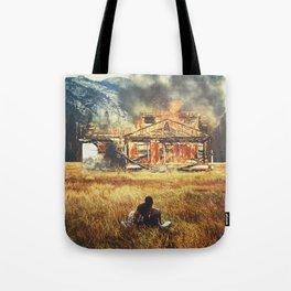 Burned Tote Bag