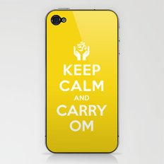 keep calm and carry om iPhone & iPod Skin