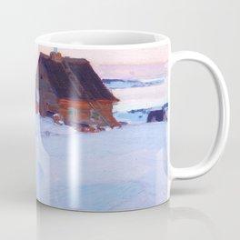 Clarence Gagnon - Ferme de St. Antoine, Baie St. Paul - Canadian Oil Painting - Group of Seven Coffee Mug