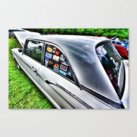 stickers Canvas Prints featuring Stickers by christopher justin gilner photographic