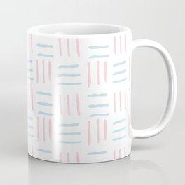 Modern hand painted blush pink teal brushstokes pattern Coffee Mug