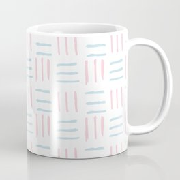 Modern hand painted blush pink teal brushstokes pattern Coffee Mug