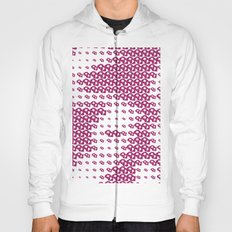 Pink Pebble Pattern Hoody