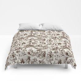 Alice in Wonderland | Toile de Jouy | Brown and Beige Comforters