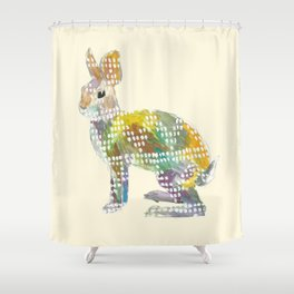 Ugly Sweater Hare Shower Curtain