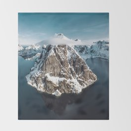 aerial view of the lofoten Throw Blanket