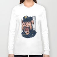 pig Long Sleeve T-shirts featuring Pig! by KV.Art