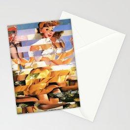 Glitch Pin-Up Redux: Xena Stationery Cards