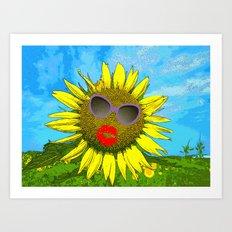 Hot Babe in the Sun Art Print