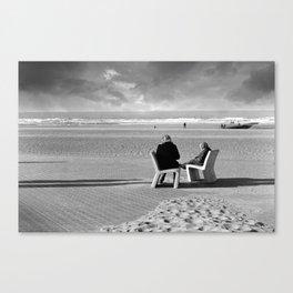 Wait and Sea Canvas Print