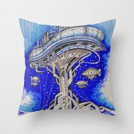 PLATFORM CITY Throw Pillow