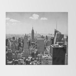 New York Skyline Throw Blanket