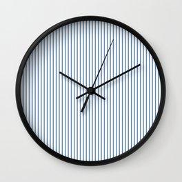 Light blue ticking stripes Wall Clock
