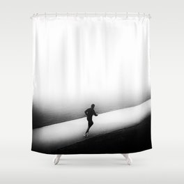 A Run in the Park Shower Curtain