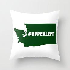 #Upperleft Throw Pillow