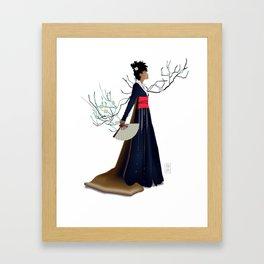 Modern Woman in Kimono Framed Art Print