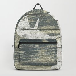 Rustic White Moose Silhouette A424a Backpack