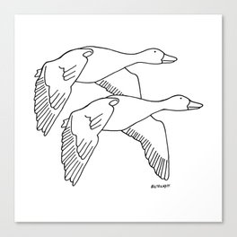 Geese in Flight #2 Canvas Print