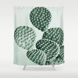 Green Bunny Ears Cactus  Shower Curtain