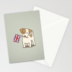Jack Russell Terrier and Union Jack Illustration Stationery Cards