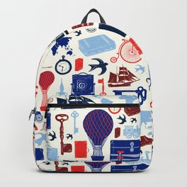 All Aboard to Explore Our Marvelous World - Vintage Travel from the Victorian Era Backpack