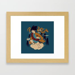 woodblockkakarot Framed Art Print
