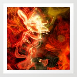 Fire Lights Art Print