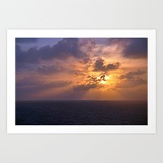 Sunrise at Sea Art Print