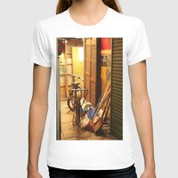 bicycles T-shirts featuring Bicycles, light by lonewombatking