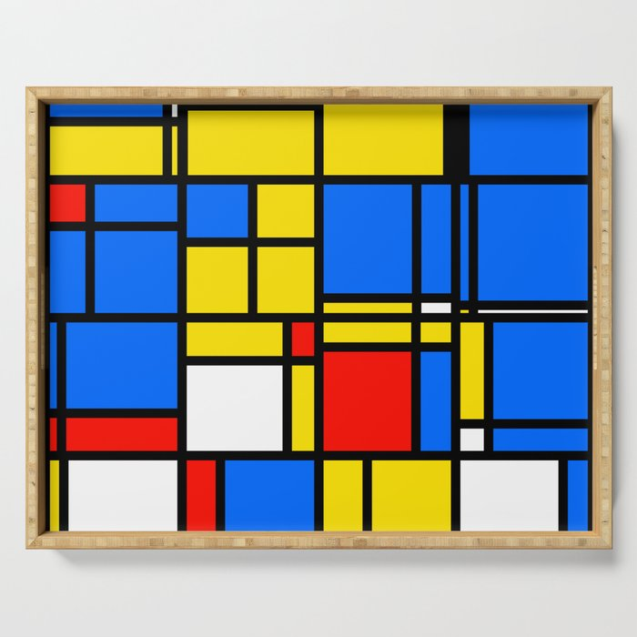 Mondrian Style Serving Tray