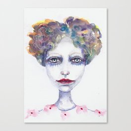 Watercolour Woman Canvas Print
